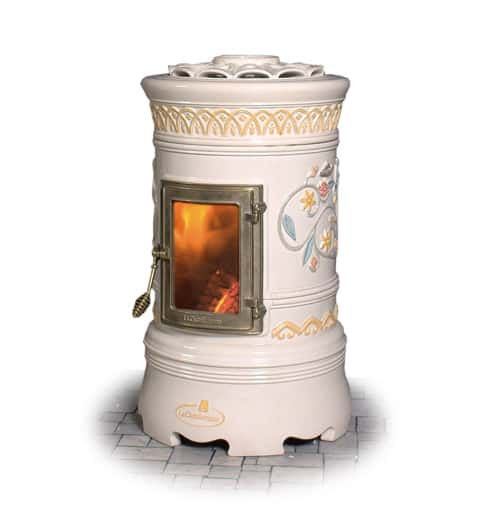 Decorative Wood Stove Round Ceramic Stoves By Castellamonte