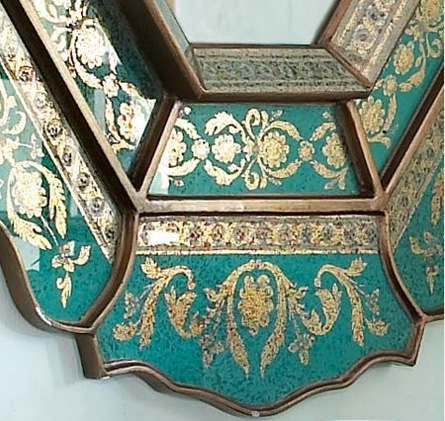 decorativemirrordetails Decorative Mirror by Horchow