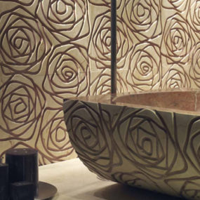 Three Dimensional Tiles – modern marble cladding Graffiti by Decormarmi