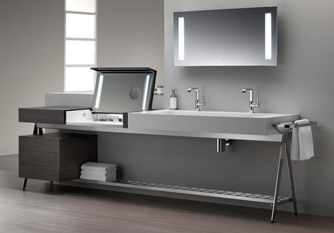Dedecker Vanity 01 2 Bath With Built In Dressing Table By