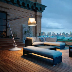 Philippe Starck Outdoor Wicker Lighting by Flos for Dedon