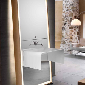 Bathroom Mirror Ideas – sink / mirror / storage combo by Delpha