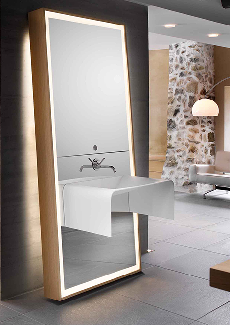Bathroom Mirror Ideas  sink / mirror / storage combo by Delpha