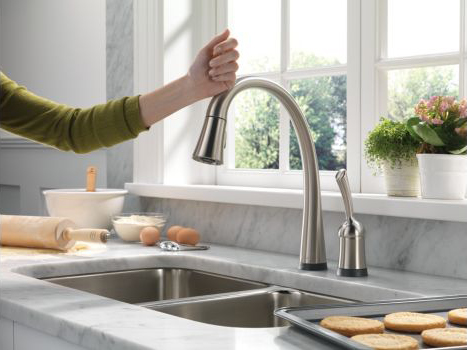 delta pilar touch activated kitchen faucet 2