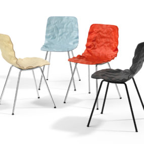 Contemporary Crumpled Dent Chair by Bla Station