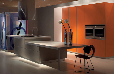 derosso kitchen counter Velve Kitchen by De Rosso blends kitchen and living areas