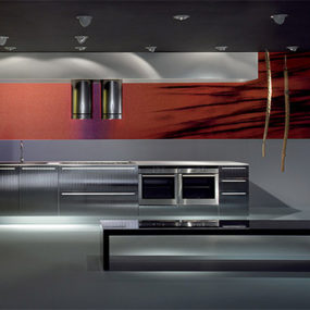 Velve Kitchen by De Rosso blends kitchen and living areas