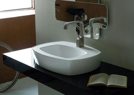 desegno ceramica tratto vessel Contemporary Bath Suite by Disegno Ceramica   new Tratto