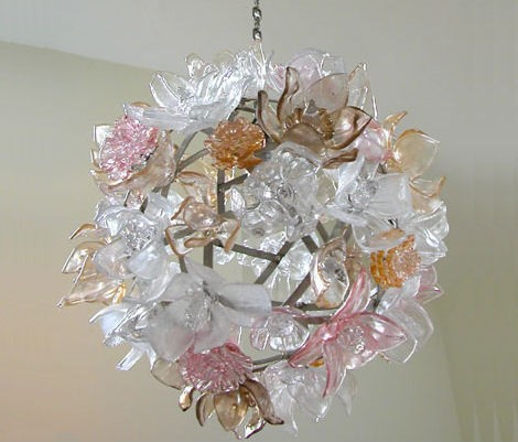 design large chandelier elizabeth lyons glass Design Chandeliers   glass chandelier by Elizabeth Lyons
