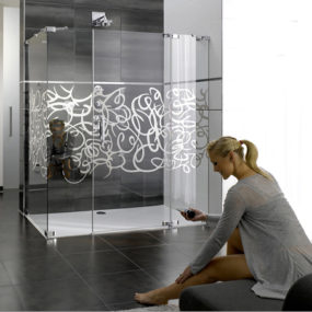 Design Shower Enclosure – glass enclosures Studio Paris by Hueppe