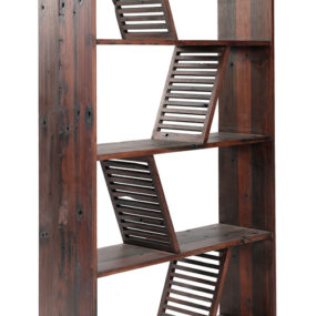 Designer Reclaimed Wood Bookcase – Shipwood Dark by Fashion For Home