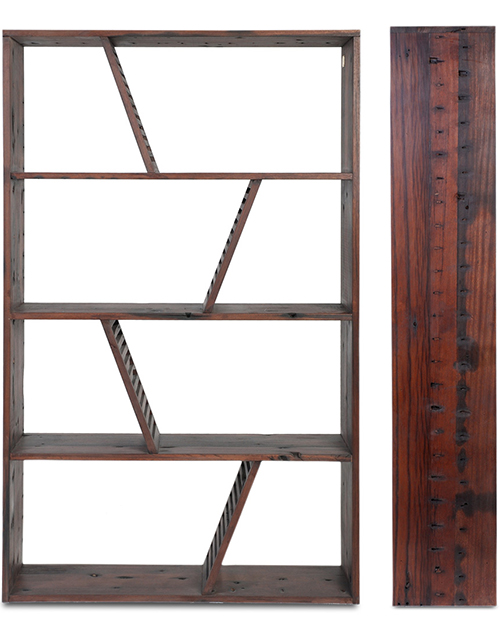 designer reclaimed wood bookcase shipwood dark fashion for home 2