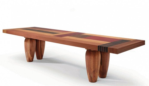 designer wood tables linteloo dutch dining 1 Designer Wood Tables   multi wood dining tables by Linteloo