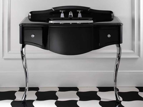 devon black lacquered console table 5