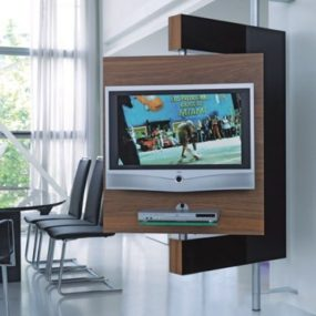 Swivel Media Stand – swivel TV mount and storage by Die Collection