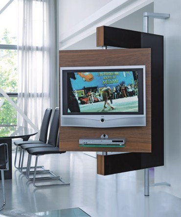 die collection swivel media stand two vision 1 Swivel Media Stand   swivel TV mount and storage by Die Collection