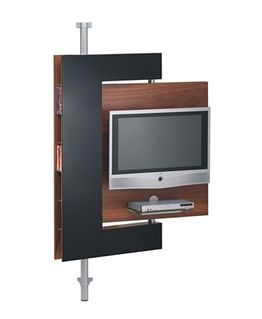 die collection swivel media stand two vision 3 Swivel Media Stand   swivel TV mount and storage by Die Collection