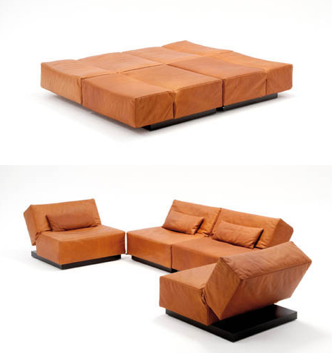 Modern Convertible Sofa from Die Collection Tema the