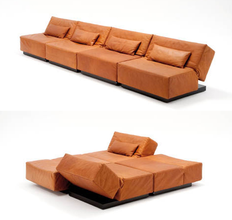 die tema convertible furniture Modern Convertible Sofa from Die Collection – Tema, the possibilities are endless ...