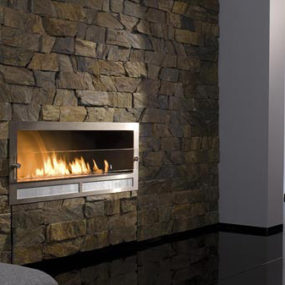Architectural Fireplaces – no chimney ethanol fireplace Ribbon Fire by Digifire