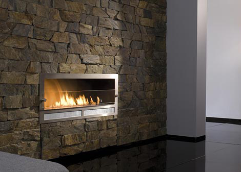 Architectural Fireplaces - no chimney ethanol fireplace Ribbon ...