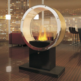 Pedestal Fireplace – smokeless eco-friendly fireplaces Orbiter by Digifire