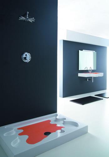 disegno ceramica multi color shower base splash Multi Color Sink and Shower Base from Disegno Ceramica: Splash and Ovo
