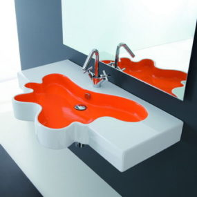 Multi Color Sink and Shower Base from Disegno Ceramica: Splash and Ovo