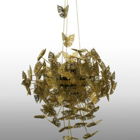 Divine Bronze Butterfly Chandelier by Koket