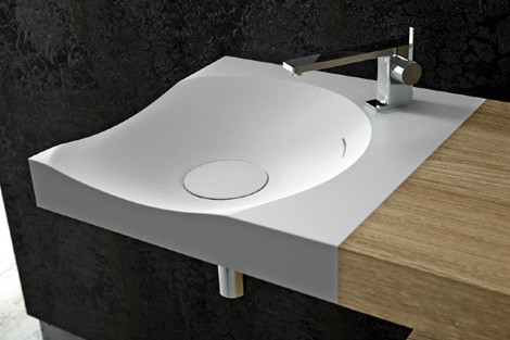dna plus washbasin single 1 Corian Bathroom Suite   Antelope Collection by DNA+ (Dna Plus)