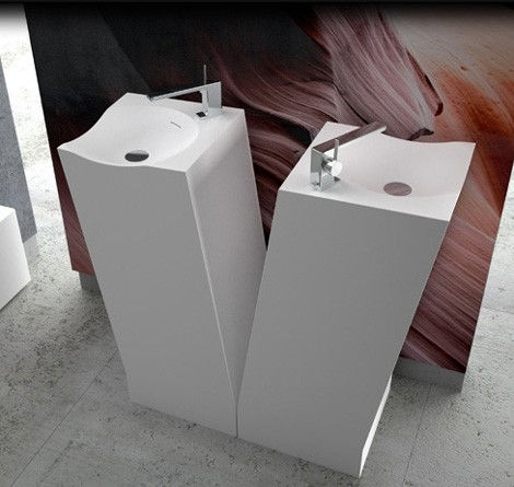 dna plus washbasin totem Corian Bathroom Suite   Antelope Collection by DNA+ (Dna Plus)