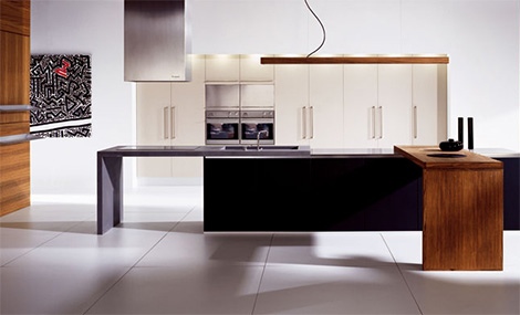 doca kitchen sedamat negro 1 Striking Linear Kitchen from Doca   Sedamat Negro
