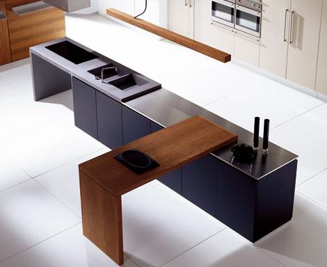 doca kitchen sedamat negro 2 Striking Linear Kitchen from Doca   Sedamat Negro