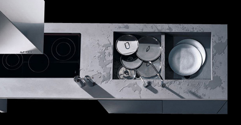 Doca Sedamat Negro kitchen - stainless steel counter top