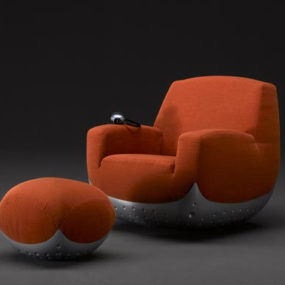 Modern Swivel Chair from Domodinamica – puffy Swing chair