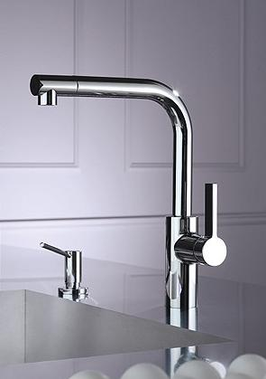 mm faucet with lever ultra matte black single mixer sink projection kitchen profi tara sprayer hole in dornbracht