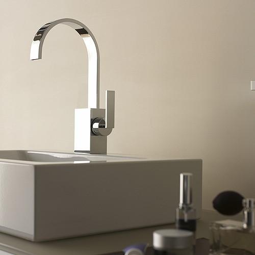 German Made Faucets Dornbracht S Sleek Mem Faucet A Flat Spout Fancy