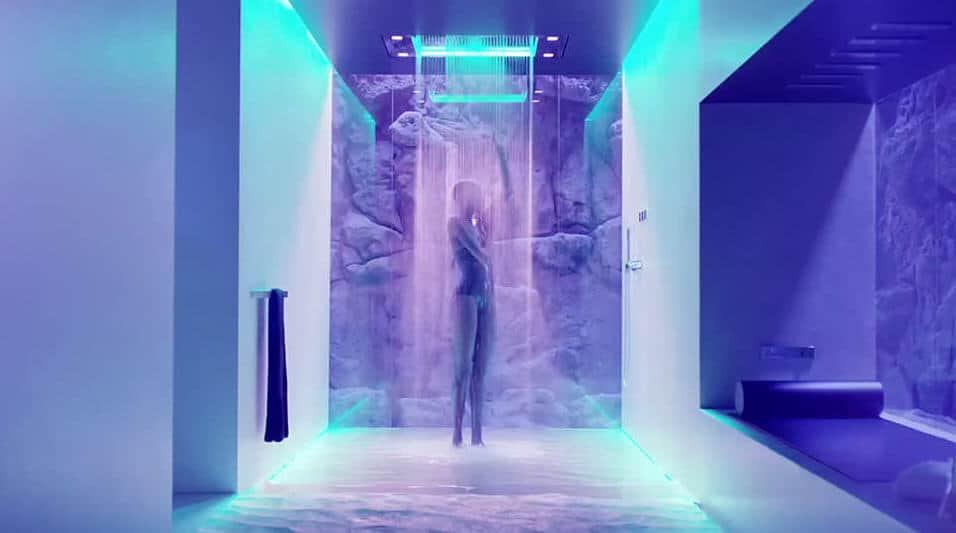 Sensory Sky Shower By Dornbracht Offers Water Light And