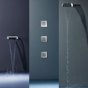 Dornbracht shower fixtures – the new WaterSheet, WaterFall and SideRain