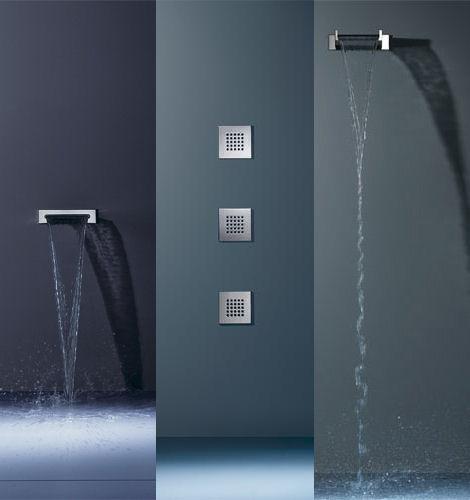 dornbracht shower watersheet waterfall siderain Dornbracht shower fixtures   the new WaterSheet, WaterFall and SideRain