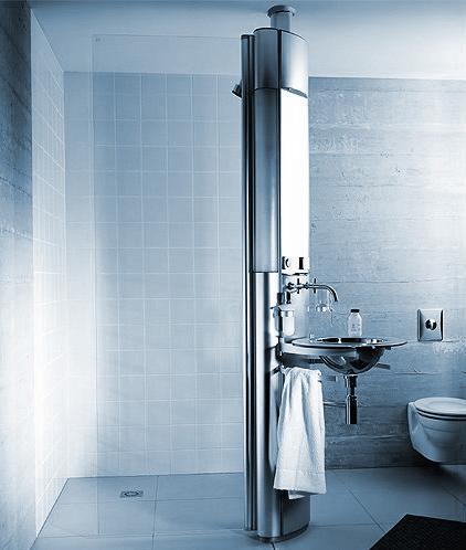 dornbracht solitude column basin Dornbracht Solitude Column   Shower System and Basin in one