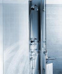 dornbracht solitude shower bassin column thumb Dornbracht Solitude Column   Shower System and Basin in one