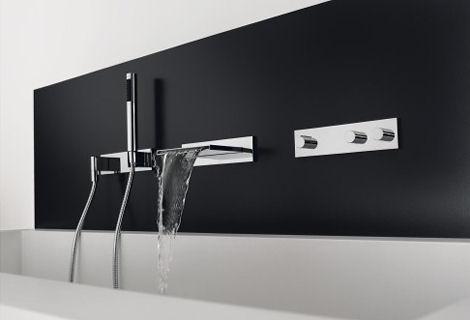 dornbracht symetrics bathroom tub filler Dornbracht Symetrics   new modular bathroom faucets system
