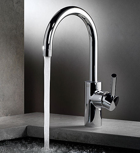 classic chrome dornbracht hole faucet kitchen single tara polished