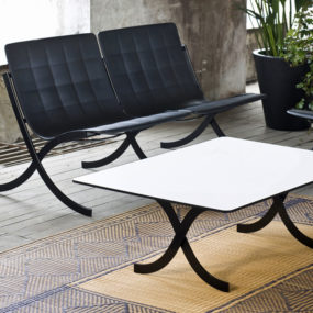 Double Lounge Chair and Lounge Table by Serralunga