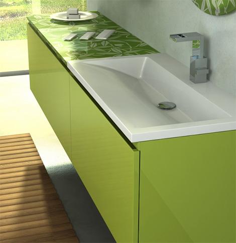 Bamboo Green vanity sink