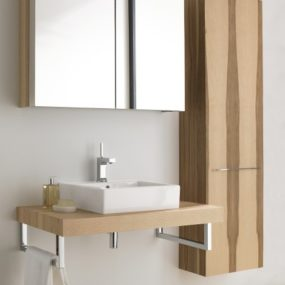 Modern Bathroom Furniture from Duravit – new Fogo range in Ash Olive wood