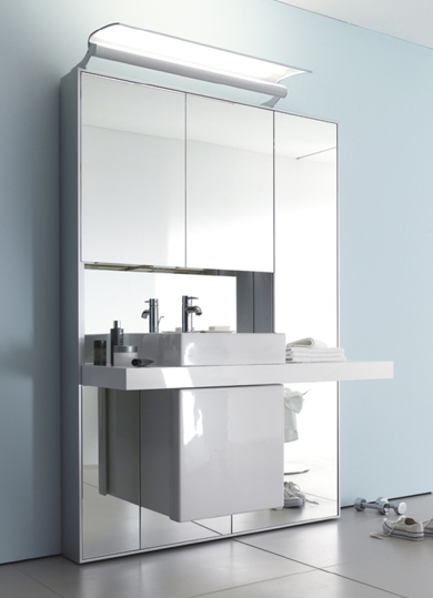 duravit mirror wall system 4 Mirror Wall System from Duravit   the Mirrorwall opens up your bathroom environment