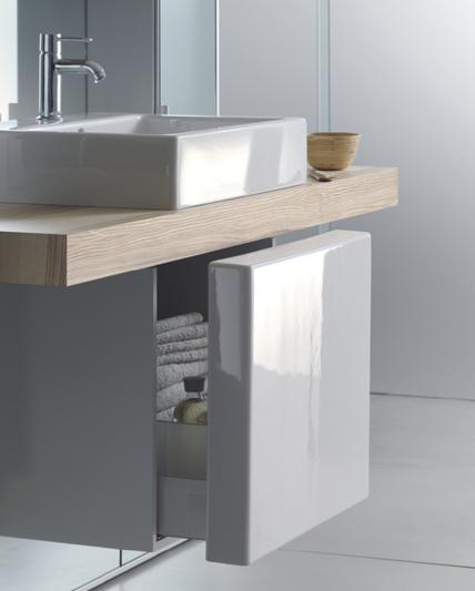 Duravit Mirrorwall system - ceramic basin