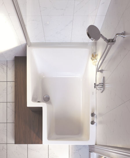 duravit seadream combo top view Duravit Seadream shower and bathtub combo   the dream combination: Shower and Bath in one